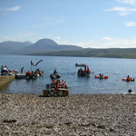 Scoraig Fundraising Raft Race, Little Loch Broom, August 2012