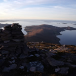 Scoraig peninsula from summit of Beinn Ghoblach